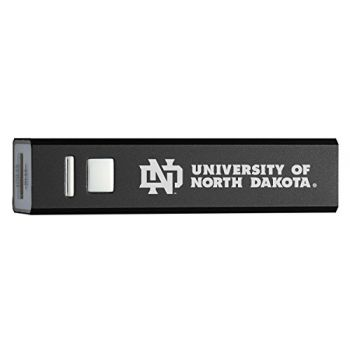 University of North Dakota - Portable Cell Phone 2600 mAh Power Bank Charger - Black