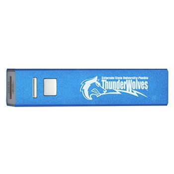 Colorado State University–Pueblo - Portable Cell Phone 2600 mAh Power Bank Charger - Blue