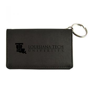 Velour ID Holder-Louisiana Tech University-Black