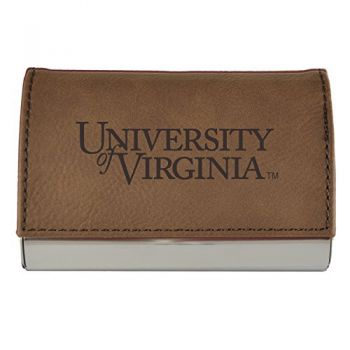 Velour Business Cardholder-University of Virginia-Brown