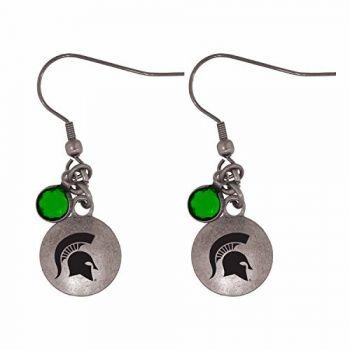 Michigan State University-Frankie Tyler Charmed Earrings