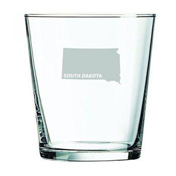 13 oz Cocktail Glass - South Dakota State Outline - South Dakota State Outline