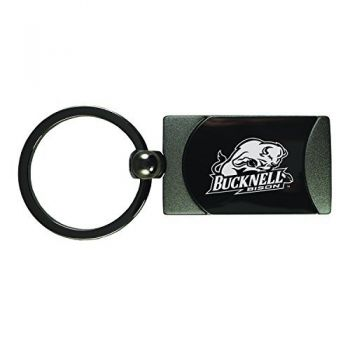 Bucknell University -Two-Toned gunmetal Key Tag-Gunmetal