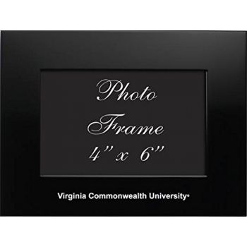 Virginia Commonwealth University - 4x6 Brushed Metal Picture Frame - Black