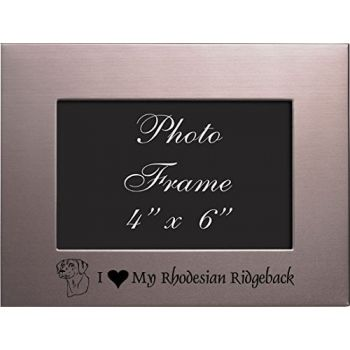 4x6 Brushed Metal Picture Frame-I love my Rhodesian Ridgeback-Silver