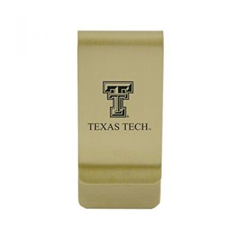 Texas A&M University-Corpus Christi|Money Clip with Contemporary Metals Finish|Solid Brass|High Tension Clip to Securely Hold Cash, Cards and ID's|Silver