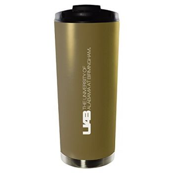 University of Alabama at Birmingham-16oz. Stainless Steel Vacuum Insulated Travel Mug Tumbler-Gold