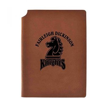 Fairleigh Dickinson University Velour Journal with Pen Holder|Carbon Etched|Officially Licensed Collegiate Journal|