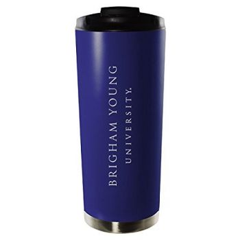 Brigham Young University-16oz. Stainless Steel Vacuum Insulated Travel Mug Tumbler-Blue