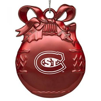 Saint Cloud State University - Pewter Christmas Tree Ornament - Red