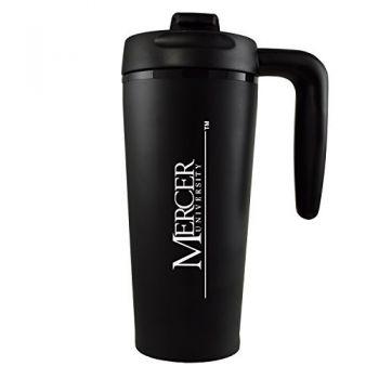 Mercer University -16 oz. Travel Mug Tumbler with Handle-Black