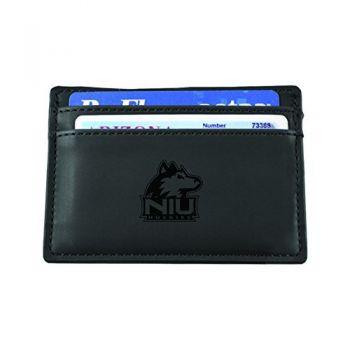 Northern Illinois University-European Money Clip Wallet-Black