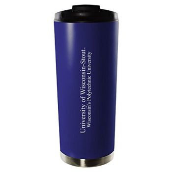 University of Wisconsin–Stout-16oz. Stainless Steel Vacuum Insulated Travel Mug Tumbler-Blue