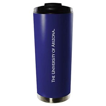 Arizona Wildcats-16oz. Stainless Steel Vacuum Insulated Travel Mug Tumbler-Blue