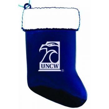 University of North Carolina Wilmington - Chirstmas Holiday Stocking Ornament - Blue