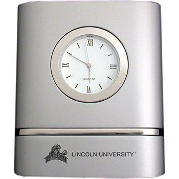 Lincoln University of Missouri- Two-Toned Desk Clock -Silver