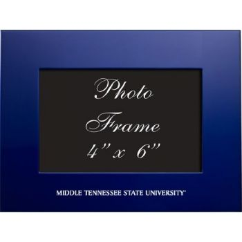 Middle Tennessee State University - 4x6 Brushed Metal Picture Frame - Blue