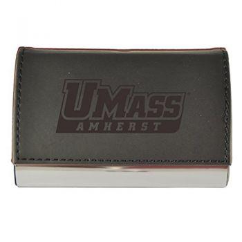 Velour Business Cardholder-University of Massachusetts, Amherst-Black