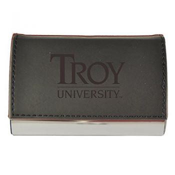 Velour Business Cardholder-Troy University-Black