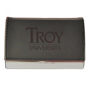 Velour Business Cardholder-Troy University-Black