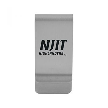 New Jersey institute of Technology|Money Clip with Contemporary Metals Finish|Solid Brass|High Tension Clip to Securely Hold Cash, Cards and ID's|Gold