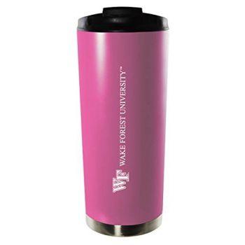 Wake Forest University-16oz. Stainless Steel Vacuum Insulated Travel Mug Tumbler-Pink