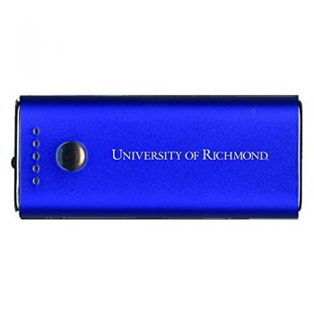 University of Richmond -Portable Cell Phone 5200 mAh Power Bank Charger -Blue