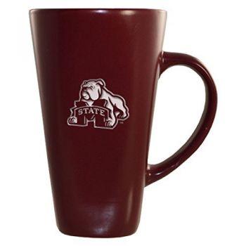 Mississippi State University -16 oz. Tall Ceramic Coffee Mug-Burgundy