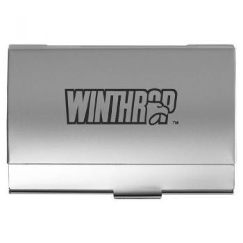 Winthrop University - Two-Tone Business Card Holder - Silver