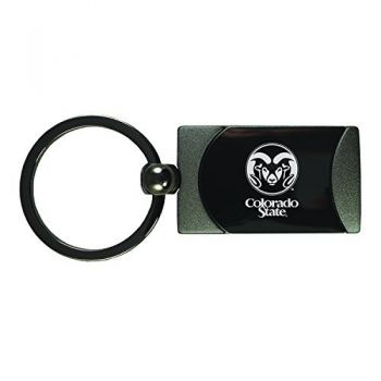 Colorado State University -Two-Toned Gun Metal Key Tag-Gunmetal