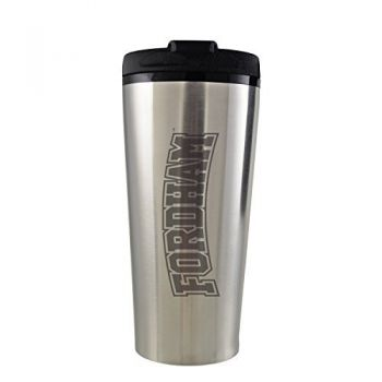 Fordham University-16 oz. Travel Mug Tumbler-Silver
