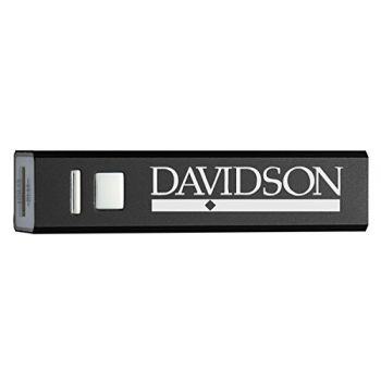 Davidson College - Portable Cell Phone 2600 mAh Power Bank Charger - Black