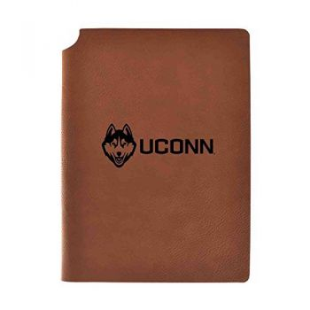 University of Connecticut Velour Journal with Pen Holder|Carbon Etched|Officially Licensed Collegiate Journal|