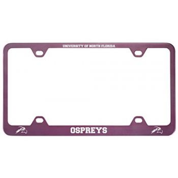 University of North Florida-Metal License Plate Frame-Pink