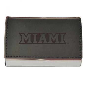 Velour Business Cardholder-Miami University-Black