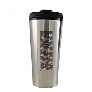 Siena College-16 oz. Travel Mug Tumbler-Silver