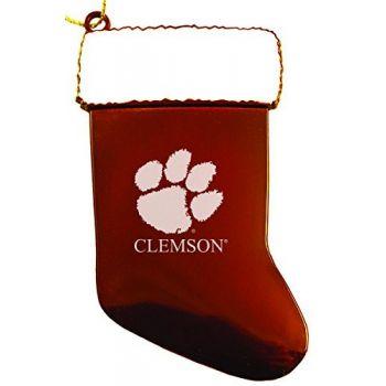 Clemson University - Chirstmas Holiday Stocking Ornament - Orange