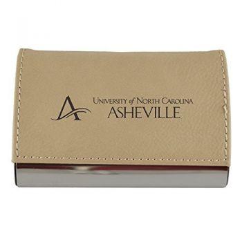 Velour Business Cardholder-University of North Carolina at Asheville-Tan