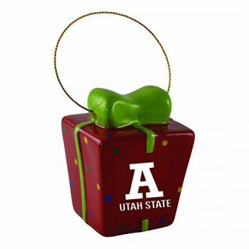 Utah State University-3D Ceramic Gift Box Ornament