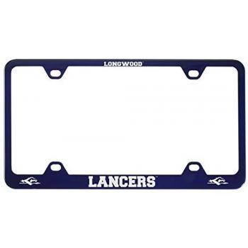 Longwood University-Metal License Plate Frame-Blue