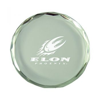 Elon University-Crystal Paper Weight