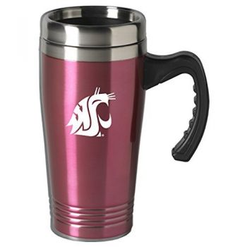 Washington State University-16 oz. Stainless Steel Mug-Pink