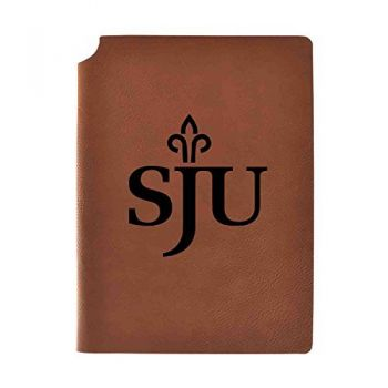 Saint Joseph's university Velour Journal with Pen Holder|Carbon Etched|Officially Licensed Collegiate Journal|