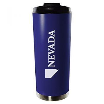 16 oz Vacuum Insulated Tumbler with Lid - Nevada State Outline - Nevada State Outline