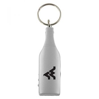 West Virginia University -Wine Shaped Bottle Opener-Silver