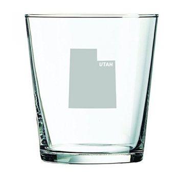 13 oz Cocktail Glass - Utah State Outline - Utah State Outline