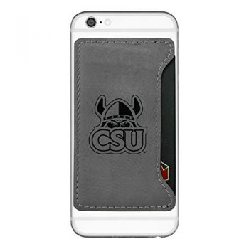 Cleveland State University-Cell Phone Card Holder-Grey