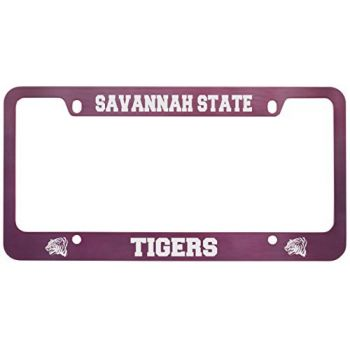 Savannah State University -Metal License Plate Frame-Pink