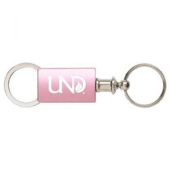 University of North Dakota - Anodized Aluminum Valet Key Tag - Pink