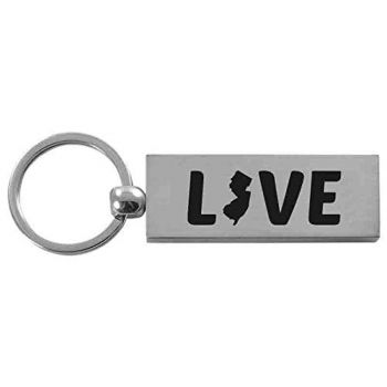 Brushed Steel Keychain - New Jersey Love - New Jersey Love